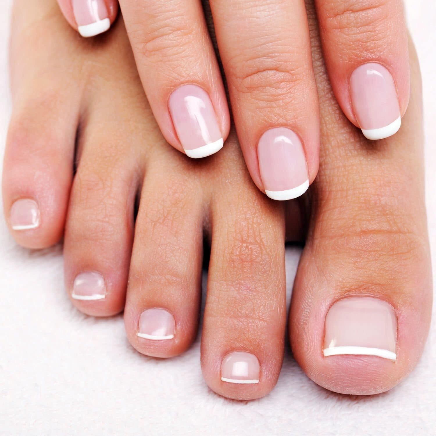 french tips designs pedicure and manicure