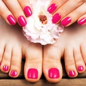 manicure and pedicure spa with normal polish