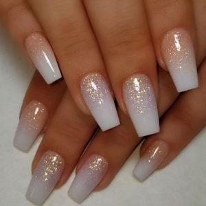 ombre nails with glitter