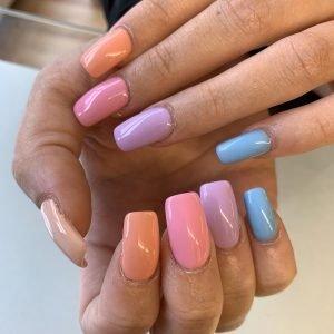 shellac multi colour design