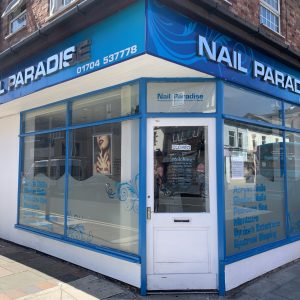 nail paradise south port shop front