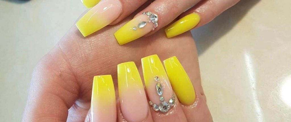 yellow ombre nail design main page